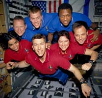 Columbia crew in space