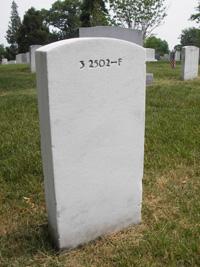 Chaffee headstone, back