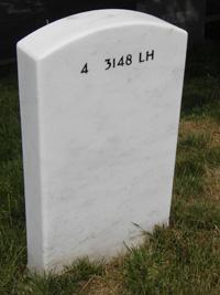 Freeman headstone, rear