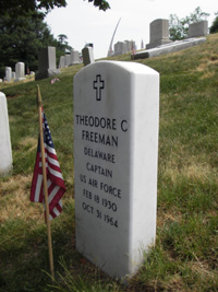 Freeman headstone, front