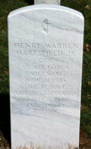 Hartsfield headstone front
