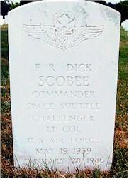 Dick Scobee headstone, front