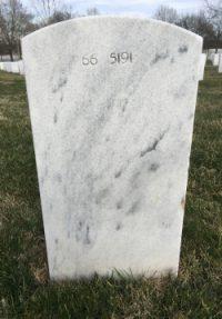 Walker gravestone back