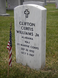 Williams headstone front