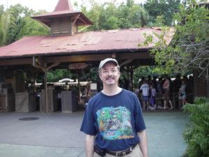 Rob at the Jungle Cruise