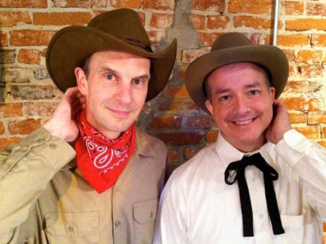 Trip Lloyd and Rob Cork as Will Rogers