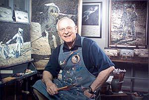 Alan Bean in his studio